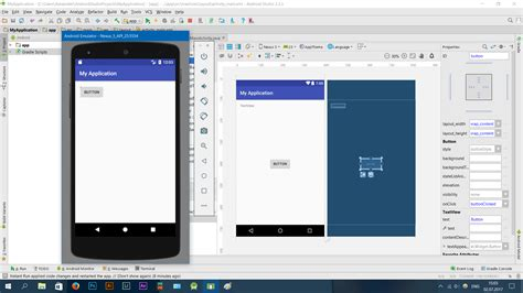 android layout width auto xml android studio different layout on emulator stack