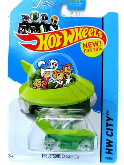 Hotwheels Hw Retro The Jetsons Capsul Car wheels hw city the jetsons capsule car diecast moc 2014 contemporary manufacture