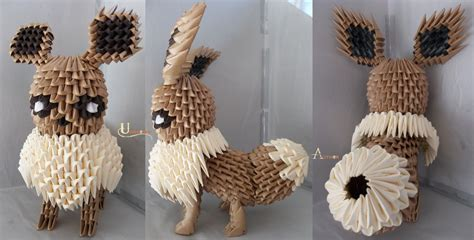 Eevee Origami - 3d origami paper 30 amazing modular character crafts