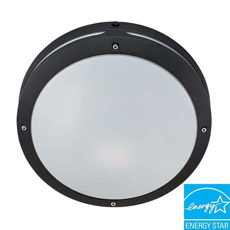 round bathroom light fixtures glomar wall ceiling 2 light outdoor matte black round