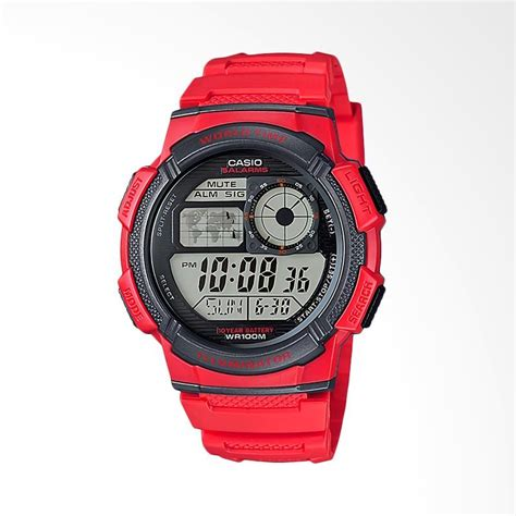 Casio Merah jual casio jam tangan pria merah ae 1000w 4avdf