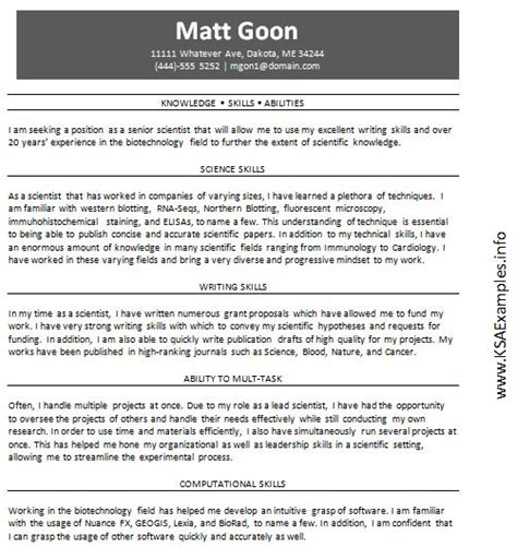 resume skill and abilities examples creative resume ideas