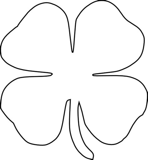 4 leaf clover template four leaf clover vector clip at clker vector