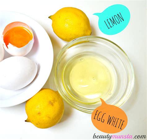 Masker White Egg egg white lemon mask for acne skin beautymunsta