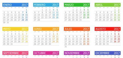 calendario 2017 para trabajar las emociones por meses