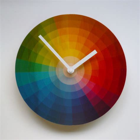 colorful wall clocks graphic designer clock interior design ideas