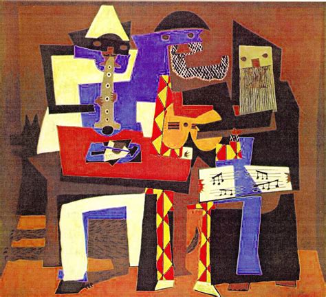 picasso paintings three musicians images