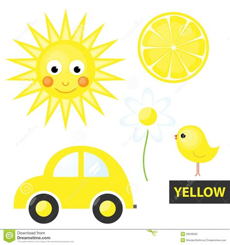 Lemon Yellow Color by Learning Colors Yellow Stock Photos Image 36538093