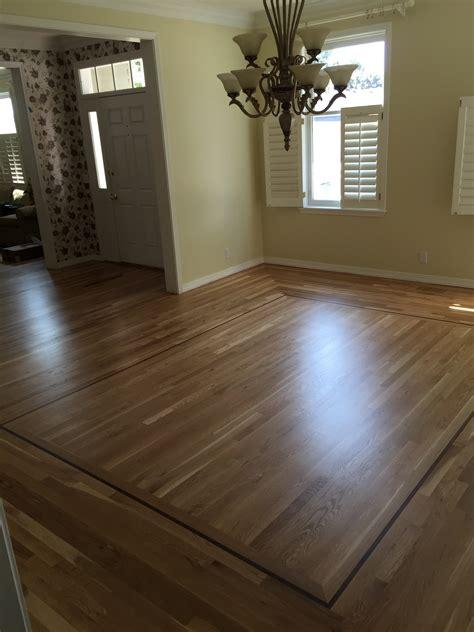 White Oak Wood Floor Refinish with Lace in   Boise, Idaho