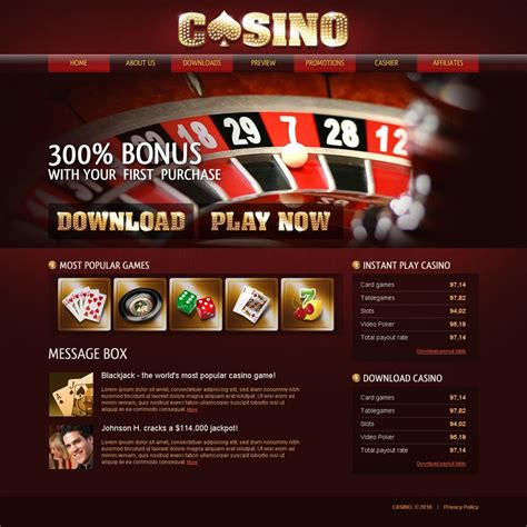 Online Casino Website Template 28193 Free Casino Templates
