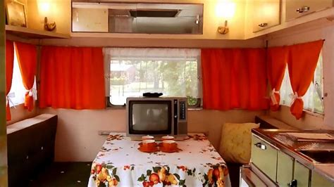 cervan design curtains carapark voyager 15 vintage retro caravan 1964 orange