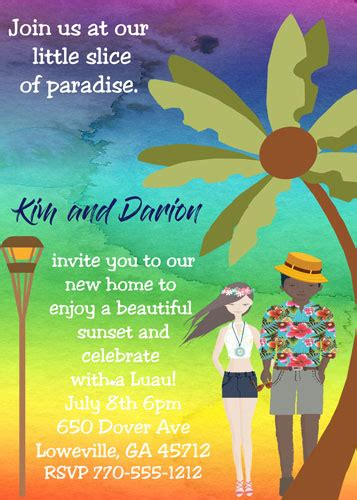 Luau Party Invitations Tropical Amp Beach Party Summer