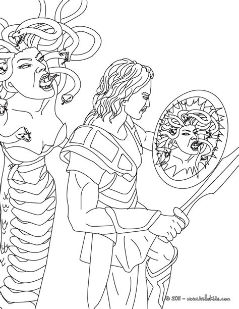 medusa coloring pages myth of perseus and medusa coloring pages hellokids