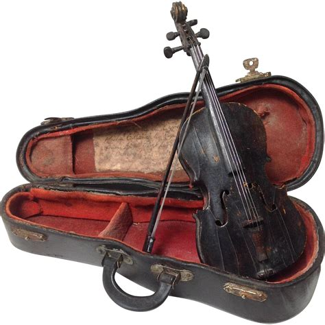 antique miniature cello handmade martin cullier 1907 from antiquesofriveroaks on ruby