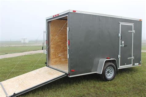 6x12 enclosed cargo trailer utility motorcycle v nose 7
