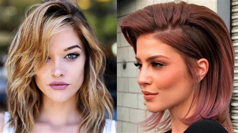 cortes de cabello para dama cortes de pelo mediano para mujer en capas 2018 moda