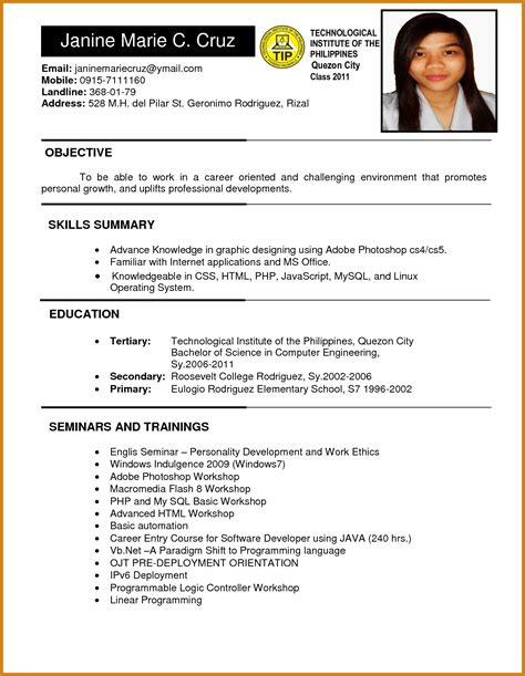 resume cover letter sles for freshers resume for application for freshers gentileforda