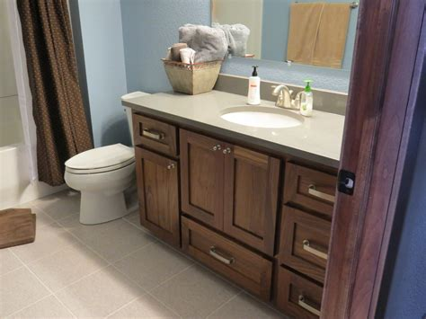 staining bathroom cabinets darker stained bathroom cabinets