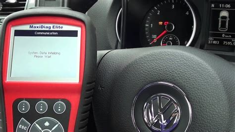 vw golf mk autel md glow plug flash engine management fault youtube