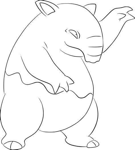 pokemon coloring pages geodude coloriage soporifik pokemon 224 imprimer