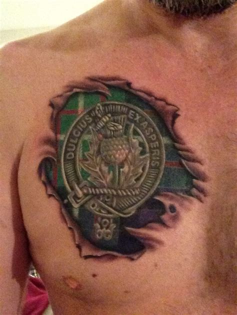 scottish clan tattoo designs ferguson clan crest and tartan chest ferguson
