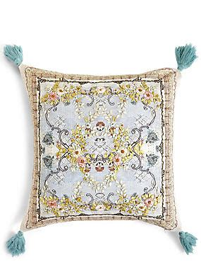marks and spencer sofa throws lace embroidered cushion