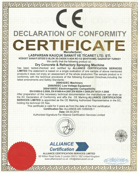 ce certificate of conformity template ce marking declaration of conformity doc images frompo