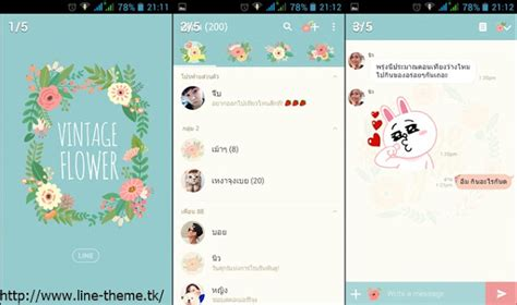 theme line android vintage flower theme line vintage flower line theme