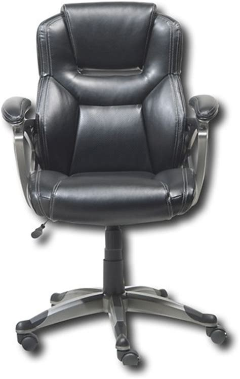 true seating concepts just simple leather executive chair t8247 best buy