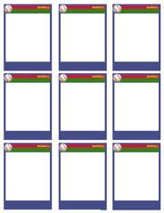 Baseball Trading Card Template Free Download Printable Trading Card Template Click Here Trading Card