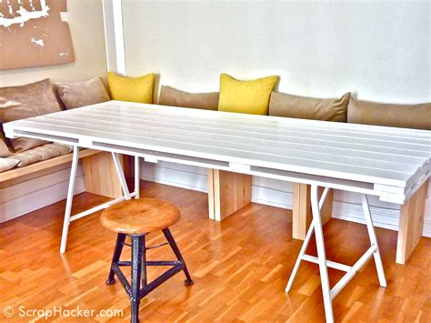 diy dining table legs 13 easy and cost effective diy pallet dining tables shelterness