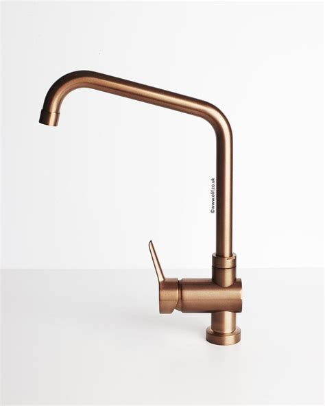 Brushed Copper kitchen mixer tap   Primo Copper by Olif
