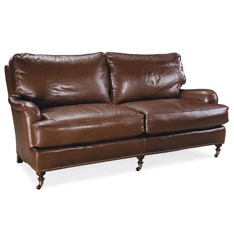 leather apartment sofa kendal leather apartment sofa luxe home company