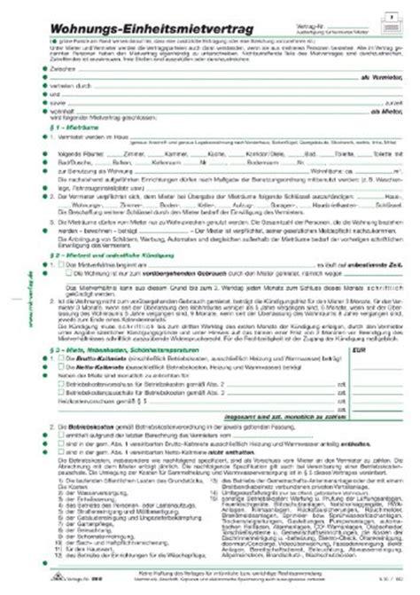 einheitsmietvertrag zum ausdrucken kalender