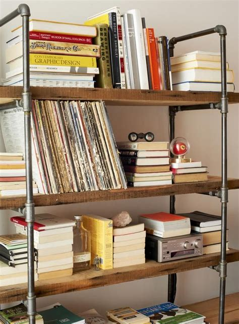 25 best ideas about pipe bookshelf on diy