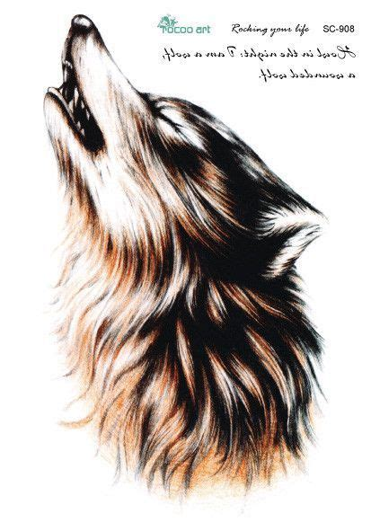 proud howling wolf head tattoo sc2908 large 3d sketch horrible brown howl wolf