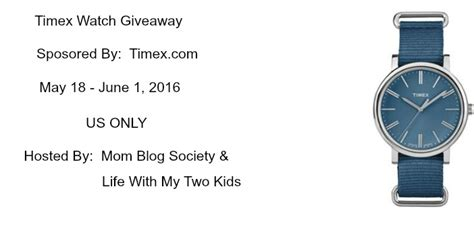 Watch Giveaways - timex watch giveaway mom blog society