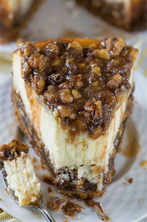 pecan pie cheesecake these are the best fall dessert