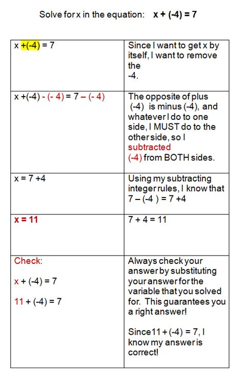One Step Equations Addition And Subtraction Worksheet by Solving Addition And Subtraction Equations With Integers