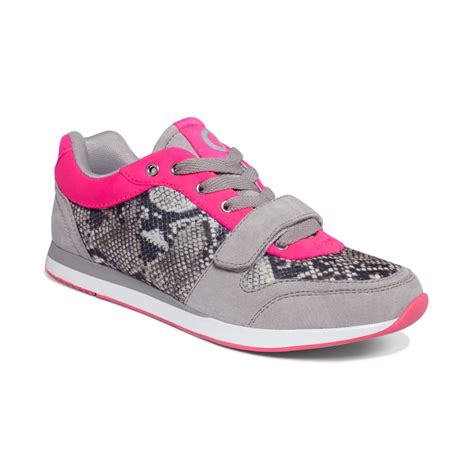 g sneakers g by guess jogger sneakers in pink lyst