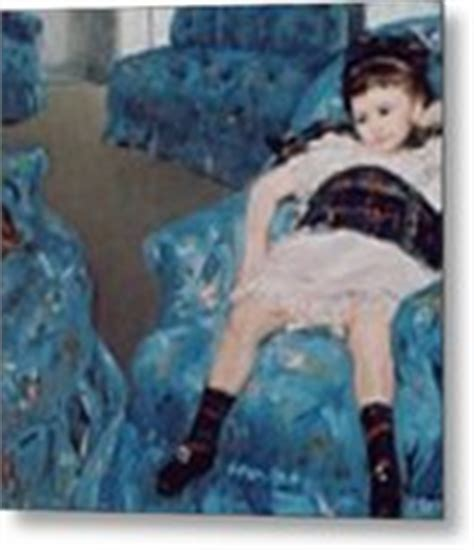 mary cassatt little girl in blue armchair little girl in a blue armchair painting by mary stevenson