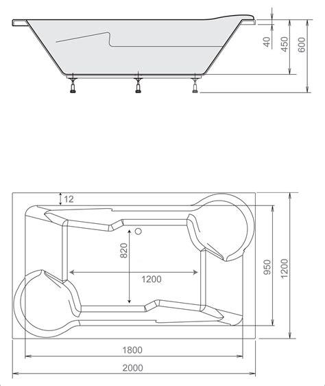 Badewanne Mit Whirlpool 45 by Design Whirlpool Badewanne Duo 200 X 120 X 45 Cm Basic Mit