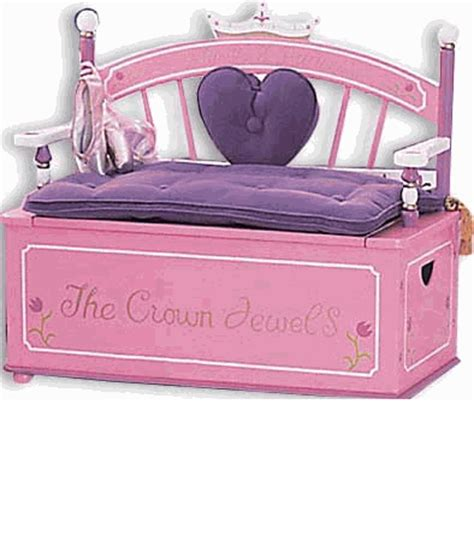 princess toy bench princess child toy box bench