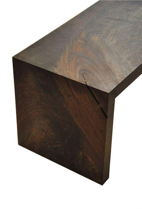 wrap bench miter wrap bench in western walnut