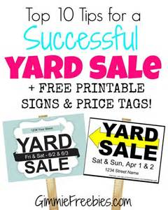 garage garage sale signs and sale signs on