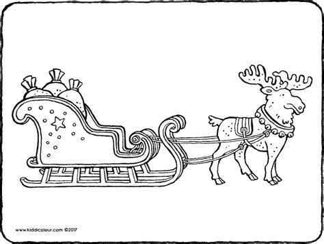 coloring page one open sleigh free vintage image one open sleigh