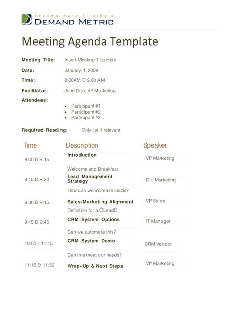 high quality sales team meeting agenda template and