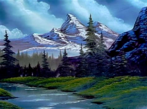bob ross painting emerald waters season 13 of the of painting with bob ross