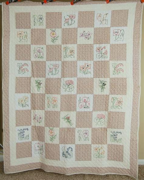 vintage flower pattern quilt gorgeous vintage 30 s ruby mckim flower garden embroidered