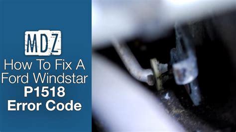 o reilly check engine light 2001 ford windstar fix for check engine light code p1518